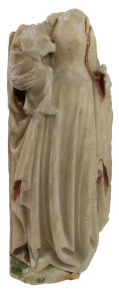 Painted alabaster female figure