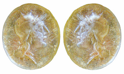 Roman intaglio with reversed image
