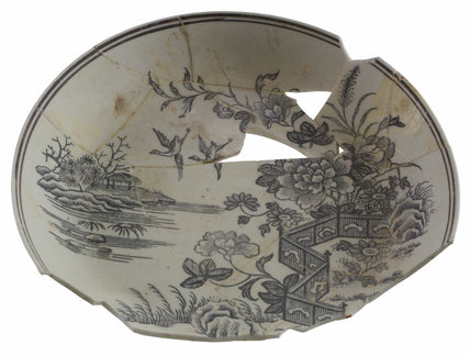 Unglazed Worcester porcelain saucer