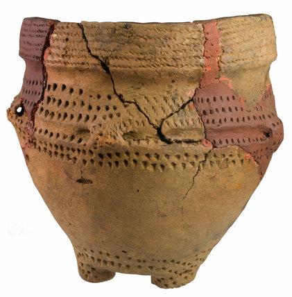 Bronze Age ceramic footed urn