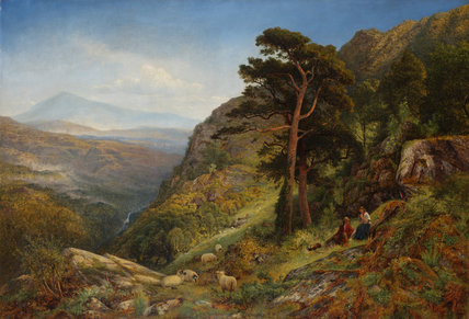 On the Hills above Betws-y-Coed, Wales