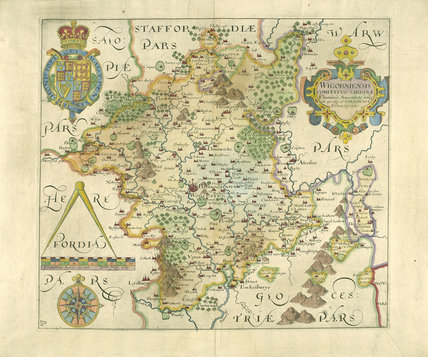 Worcestershire Map