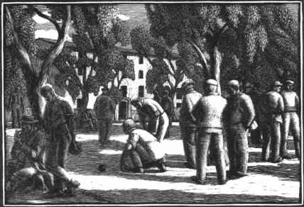 Boule Players by Sunlight