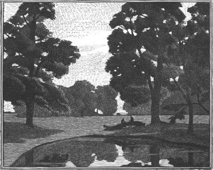 Elms by a Pond