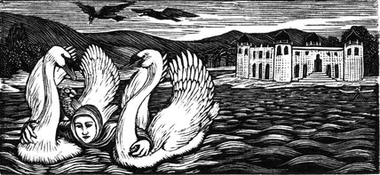 The Swans Take the Princess across the Lake
