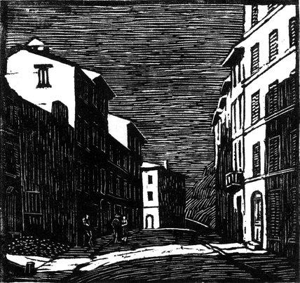 Street by Moonlight, Vence 1