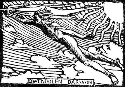 Bookplate of Gwendolen Darwin