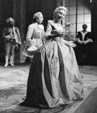 Soprano Anneliese Rothenberger appears in 'Der Rosenkavalier' at Glyndebourne with singer Elisabeth Soderstrom
