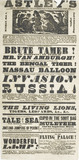 A poster announcing a programme of entertainment at Astley's Royal Amphitheatre;
