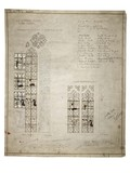 A design for a stained glass window for the Lady Chapel, Liverpool Cathedral:  1909
