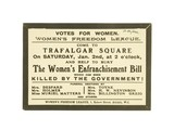 Funeral of the Women's Enfranchisement Bill, organised by Women's Freedom League: c. 1909