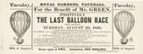 The Last Balloon Race; 1836