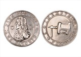 A  medal issued upon the death of Charles I, 30 Jan 1649