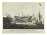 The Launch the East India Companys ship Edinburgh: 1827