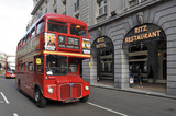 Routemaster bus outside the Ritz; 2010