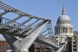 The Millennium Bridge and St. Pauls; 2010