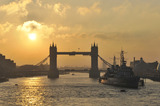 Tower Bridge at sun rise; 2010