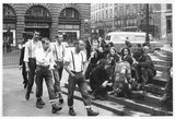 Group of skinheads & hippies in Piccadilly Circus, 1969