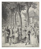 Mr Cripps encountering his Master in Mary-le-Bone Gardens: 1842