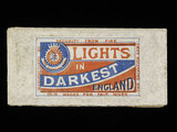 Lights in Darkest England, match box lid; c.1891
