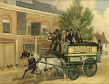 An Omnibus Passing the 'Three Compasses' Inn, Clapton;1850