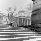 National Gallery from the steps of Trafalgar Square; 1957
