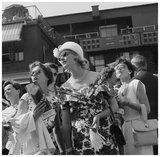 Women attending the All England Lawn Tennis;1960