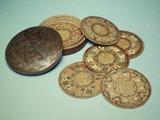 Beechwood trencher mats; c 1620