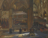 Interior of Westminster Abbey looking into the South Transept;