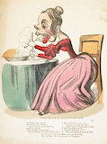 Comic valentine's card; 1840-1849