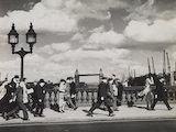 A windy evening on London Bridge; 1935
