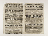 ouble column playbill announcing programme of events at Astleys