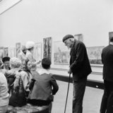 Visitors at the Royal Academy Summer Exhibition; 1966