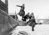 PLA policemen testing life-jackets: c. 1930