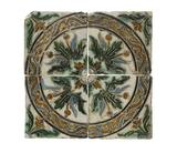 Cuerca seca tiles: early 16th century