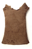Knitted short sleeved woollen vest: 16th century