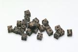 Twenty four small bone dice: 15th century