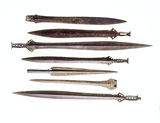 Selection of middle bronze-age weaponry