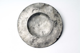 Broad rimmed pewter plate: 16th -17th century