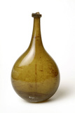 Glass flask: 17th century