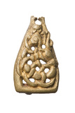 Triangular copper alloy mount for a stirrup: 11th century