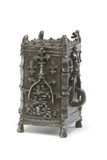 Metal almsbox: 15th century