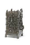 Metal almsbox: 15th century