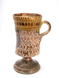 Large goblet shaped white jug: 16th century