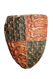 Carved stone shield: 14th century