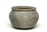 Grey ceramic cooking pot: 13th century