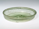 Roman green glass dish