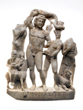 Bacchus group from the Temple of Mithras: Roman