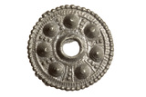 Saxon pewter disc brooche