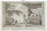 The devastation occassioned by the rioters of London firing the new goal of Newgate: 1780